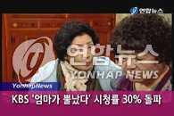 KBS电视剧《妈妈生气了》收视率突破30%