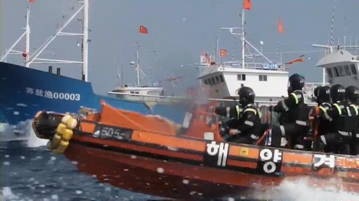 详讯:中国渔船再闯汉江入海口 韩军开始驱离