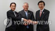 韩美日商定敦促朝鲜以完整和可检验的方法弃核