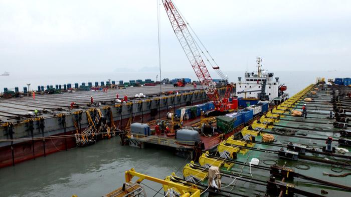 快讯:韩海水部称启动试捞世越号船体