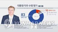民调:逾八成韩国民众对文在寅施政给予积极评价