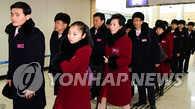 平昌冬奥会朝鲜体育代表团和拉拉队返朝