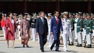 文在寅在古宫为印尼总统办欢迎仪式