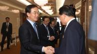 《10·4宣言》纪念仪式韩方代表团抵达平壤