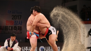 韩朝传统摔跤共同入选非遗