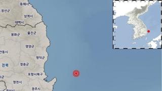 韩东南部浦项以东海域发生4.1级地震