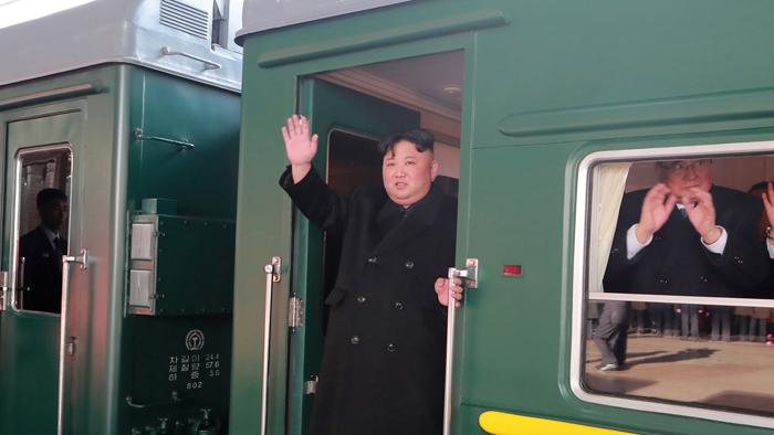 金正恩今晨乘专列启程赴俄罗斯