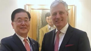 韩美总统国安顾问在纽约会晤