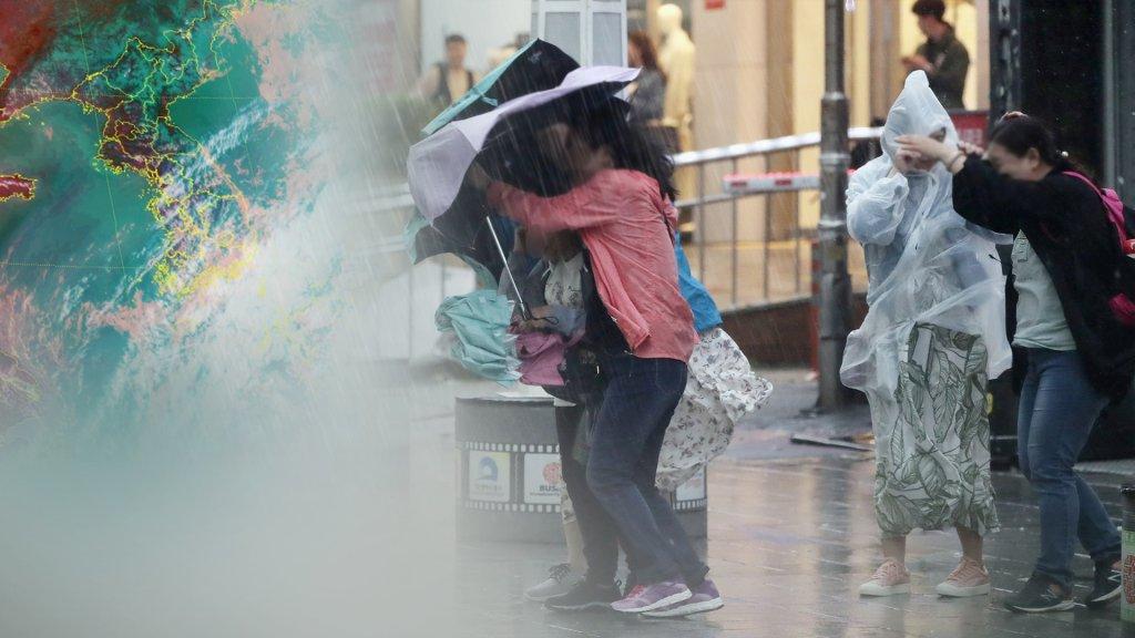 """台风""""米娜""""3日零时将登陆韩国南部"""