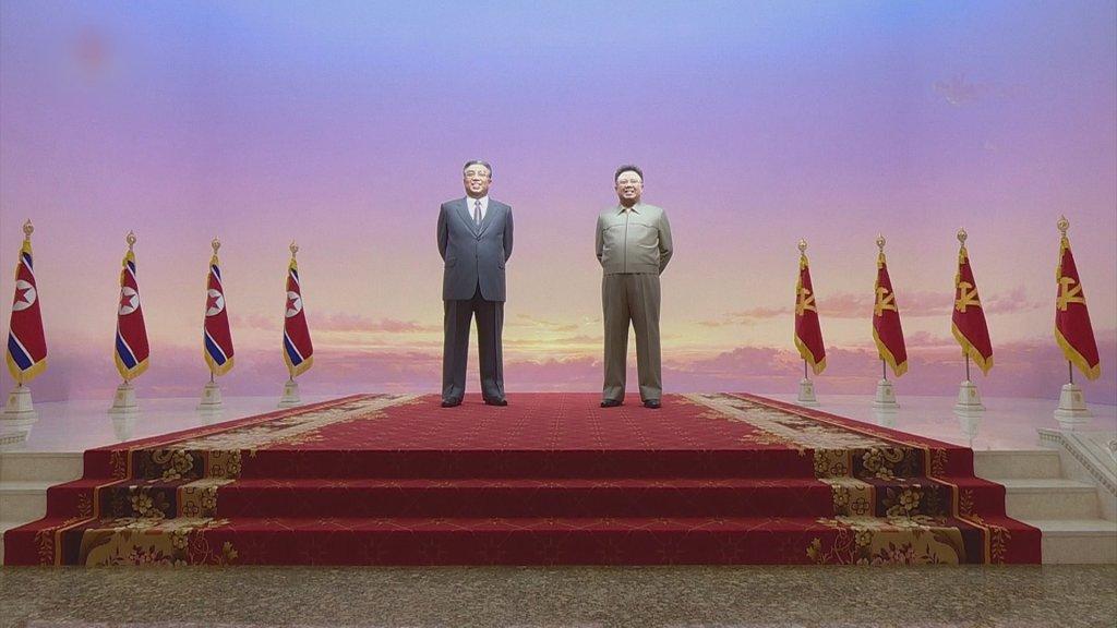 金正恩参谒锦绣山太阳宫纪念劳动党成立74周年