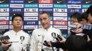 韩国男足结束世预赛韩朝对决回国