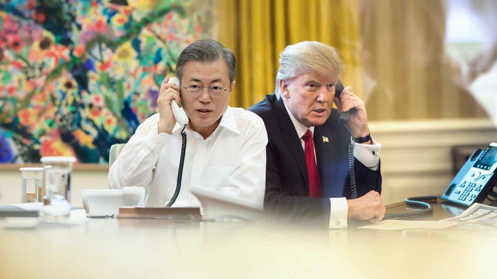 文在寅与特朗普通电话商讨无核化事宜