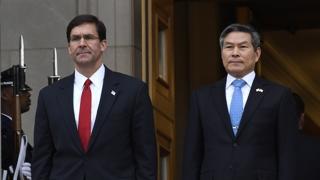 韩美防长商讨防卫费分担和联演事宜