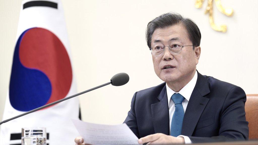 文在寅表示将与国际社会共享韩国成功抗疫模式