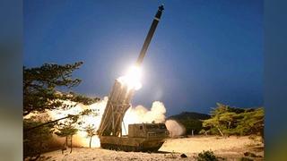 """朝媒证实昨射""""超大型多管火箭炮"""""""