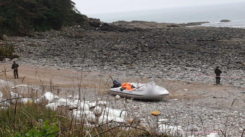 一中国男子涉嫌乘快艇偷渡韩西海岸被抓获