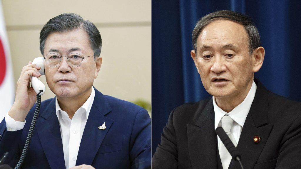 文在寅同日本新任首相菅义伟通电话