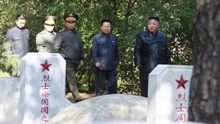金正恩参谒中国人民志愿军烈士陵园