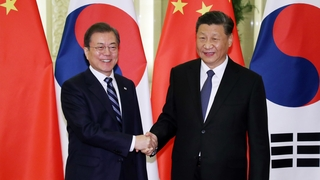 韩中元首商定为促成习近平访韩保持沟通