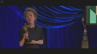 尹汝贞奥斯卡获奖感言:得奖是因为运气好