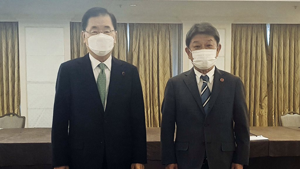 韩外交部:韩日商定共促两国关系发展