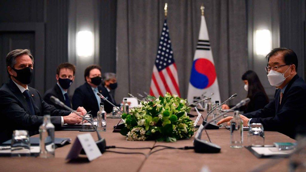 韩美外长在英会晤商讨同盟和无核化事宜