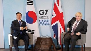 韩英领导人举行会谈