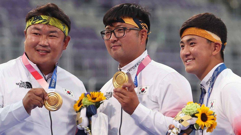 韩国队摘得东京奥运男子射箭团体金牌