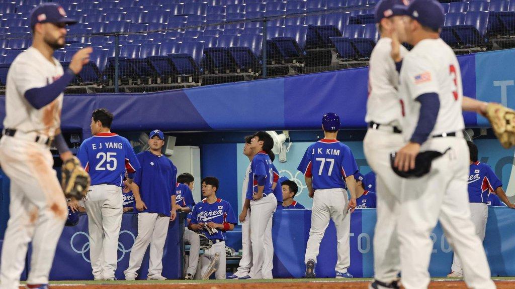 韩国棒球奥运小组赛负于美国晋级淘汰赛