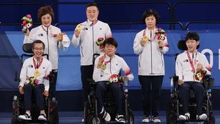 韩国队夺得东京残奥硬地滚球双人项目冠军