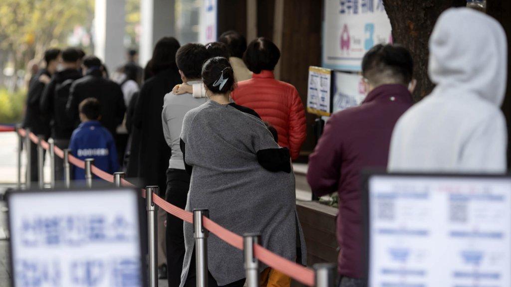 韩国新增1440例新冠确诊病例 累计348969例