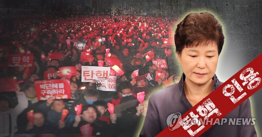 简讯:朴槿惠被弹劾下台 宪院8名法官全员赞成