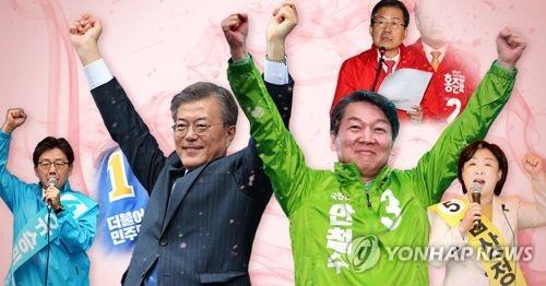 """韩大选拉票起跑一周 """"文安""""奔走全国打拉票战"""