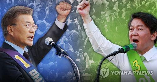 韩大选民调:文在寅居首拉大与安哲秀差距