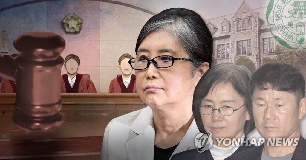 崔顺实走后门送女上大学被判3年 - 1