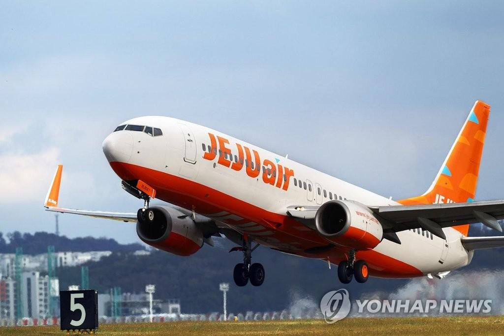 资料图片:济州航空客机(韩联社)