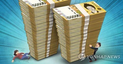 韩第三季度末家庭企业负债超GDP两倍多