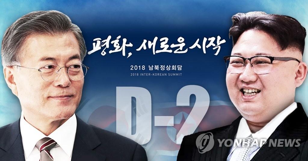 韩朝今在板门店携手进行首脑会谈排练 - 1