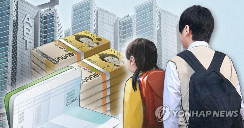 统计:韩10岁以下获赠60万元以上纳税者同比增七成
