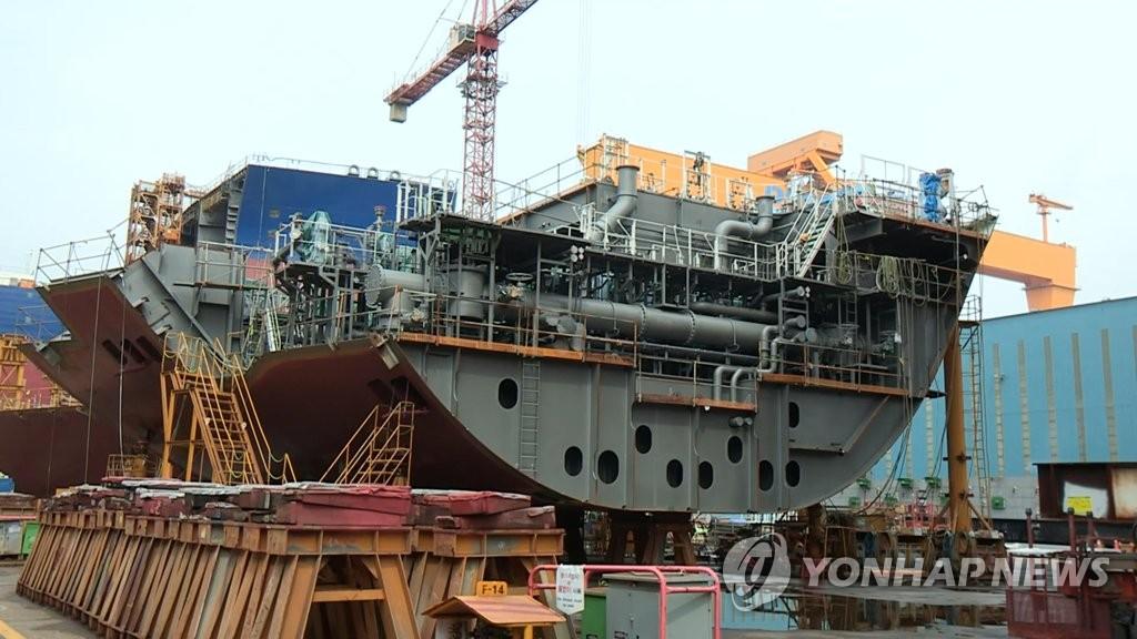 韩8月造船厂订单量排世界第一