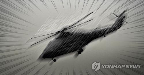 一架美军直升机迫降汉江公园无伤亡