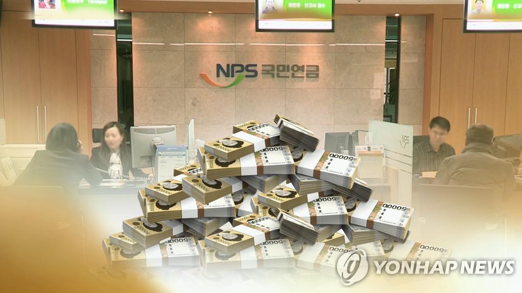 资料图片:国民年金 韩联社TV供图