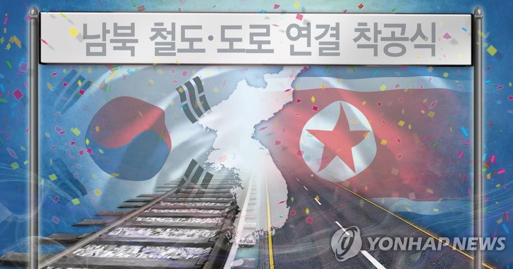 韩朝铁路对接项目开工仪式获联合国制裁豁免 - 1