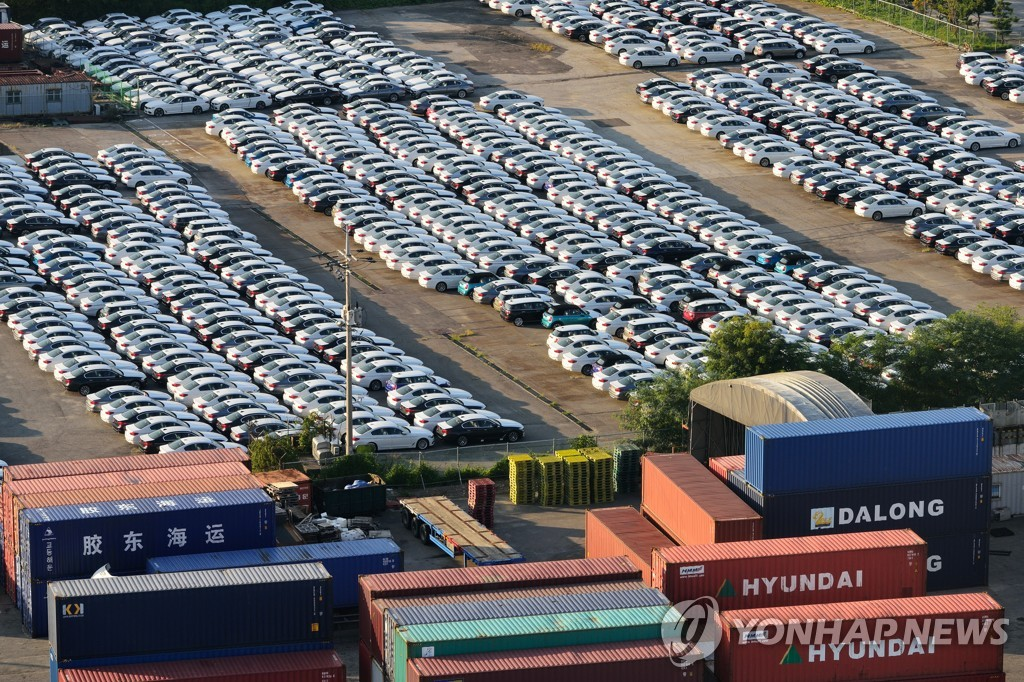 韩国第三季乘用车出口额下降13.6%