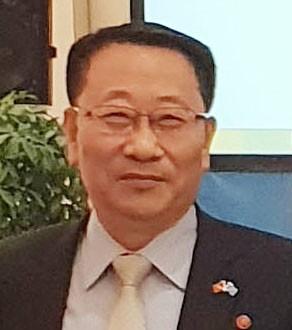 资料图片:朝鲜巡回大使金明吉 韩联社