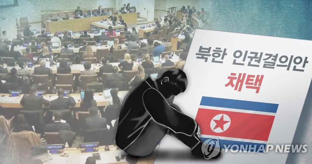 联合国通过朝鲜人权决议。