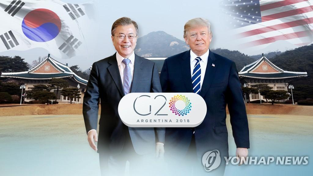 白宫:特朗普G20峰会期间将会晤文在寅