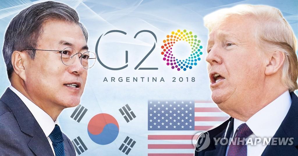 韩美领导人明晨举行正式会谈