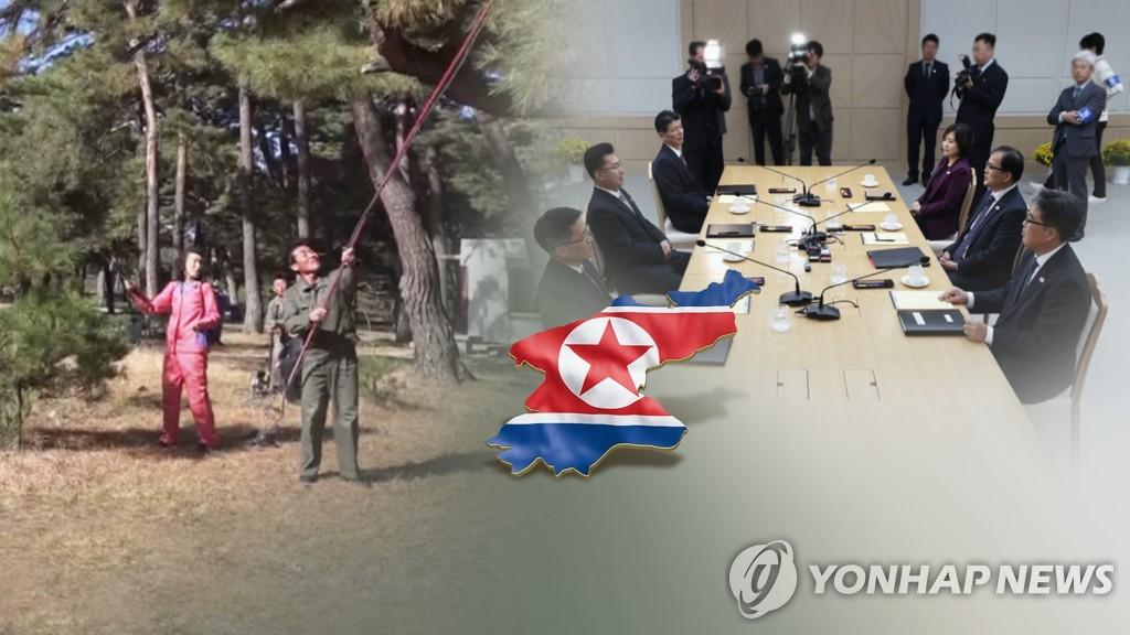 韩朝山林合作项目韩方考察团启程赴朝