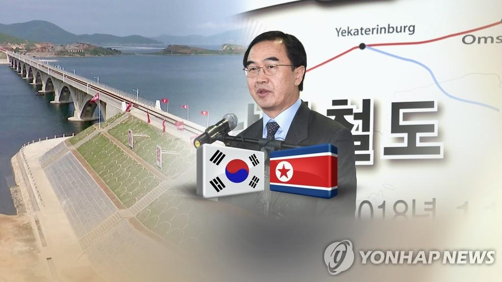 韩官员:韩朝正讨论铁路公路对接开工仪式